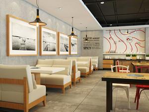55平米现代简约风格小型餐厅装修效果图