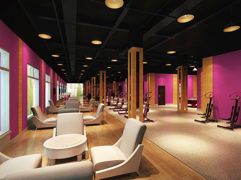 100平米后现代风格健身房设计装修效果图赏析