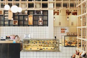 50平米北欧风格简约面包店装修效果图