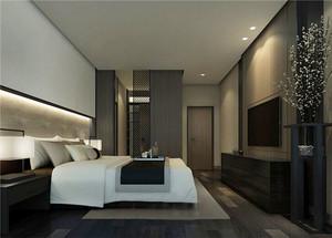 中式风格简约宾馆客房设计装修效果图