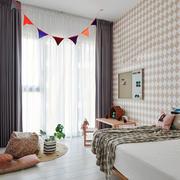 北欧风格时尚可爱清新儿童房设计装修效果图