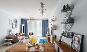 北欧风格简约文艺范客厅装修效果图