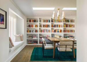 北欧风格简约别墅室内书房设计装修效果图