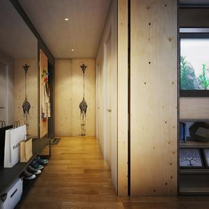 64平米北欧风格时尚一居室室内装修效果图