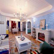 地中海风格大户型时尚清新客厅装修效果图赏析