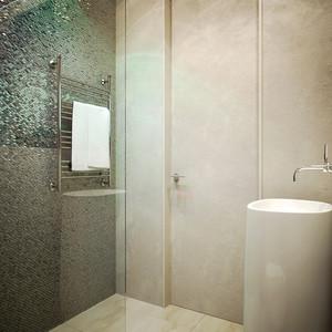 55平米后现代风格简约单身公寓装修效果图