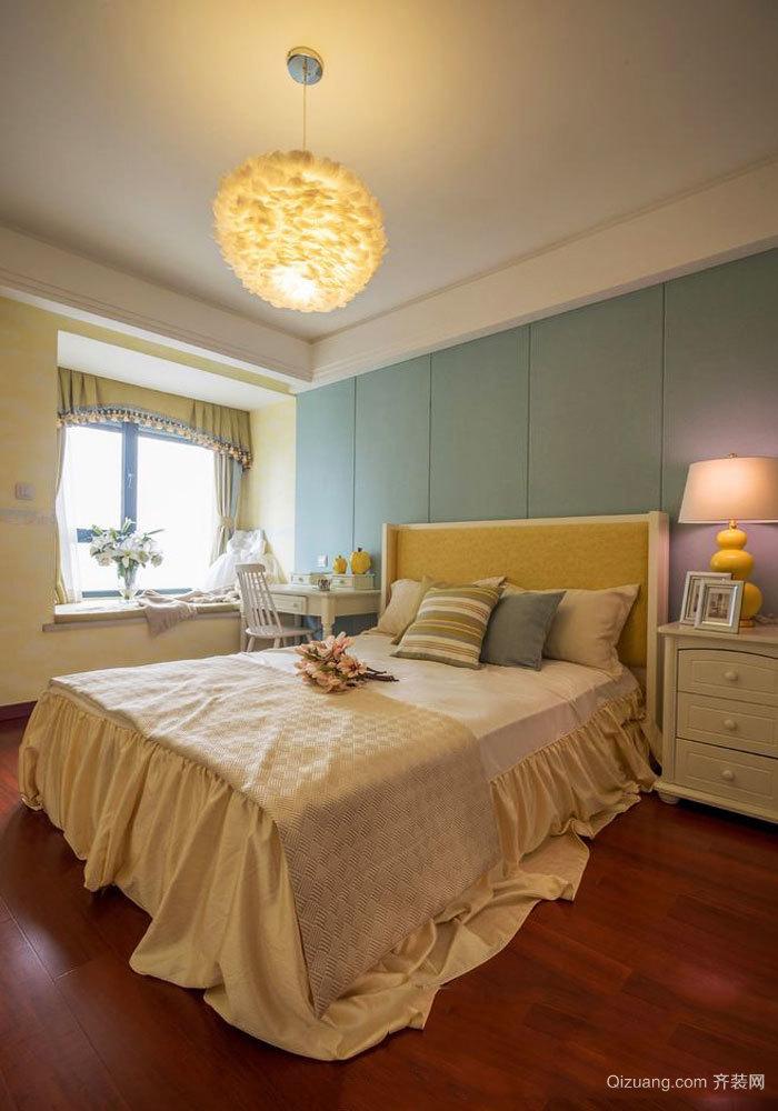 简欧风格温馨卧室飘窗设计装修效果图赏析