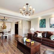 美式风格大户型精致客厅装修效果图欣赏