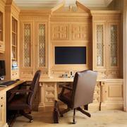 美式风格精致别墅书房设计装修效果图赏析