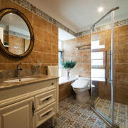 欧式风格精致卫生间淋浴房设计装修效果图