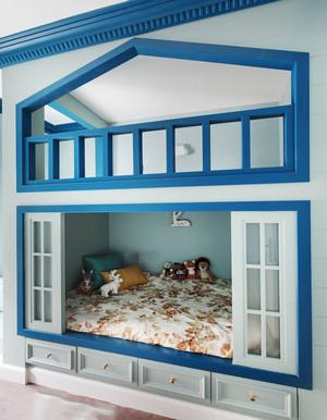 地中海风格时尚清新儿童房设计装修效果图