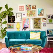 现代风格时尚客厅照片墙装修效果图欣赏