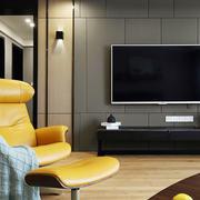 现代风格时尚客厅电视背景墙装修效果图赏析