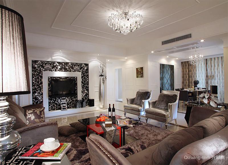 147平米新古典主义风格大户型室内装修效果图赏析