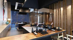 日式风格日式料理店装修效果图