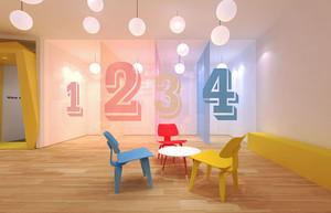 简约风格时尚幼儿园教室环境布置效果图