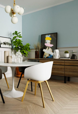 68平米北欧风格文艺时尚一居室装修效果图