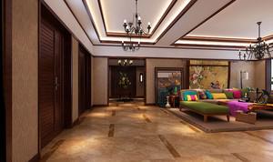 80平米东南亚风格古朴华丽室内装修效果图