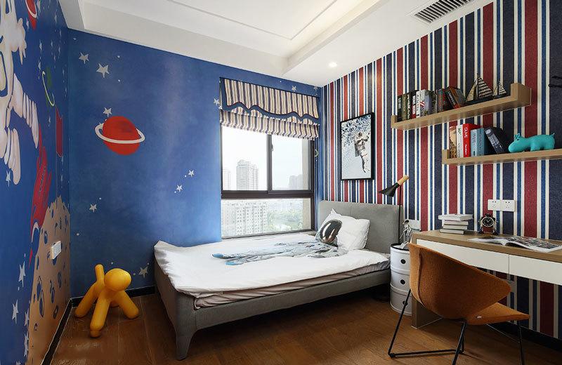 现代风格精致时尚星空主题儿童房效果图