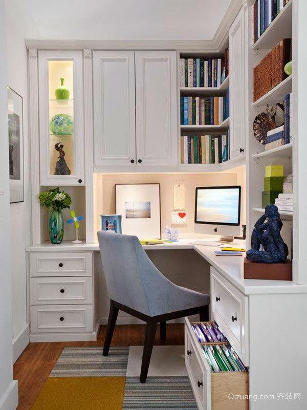 简欧风格精致时尚书房设计装修效果图