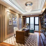 美式风格大户型精致书房装修效果图赏析