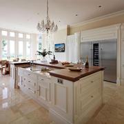 欧式风格精美别墅室内开放式厨房装修效果图