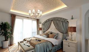 欧式田园风格温馨时尚卧室装修效果图