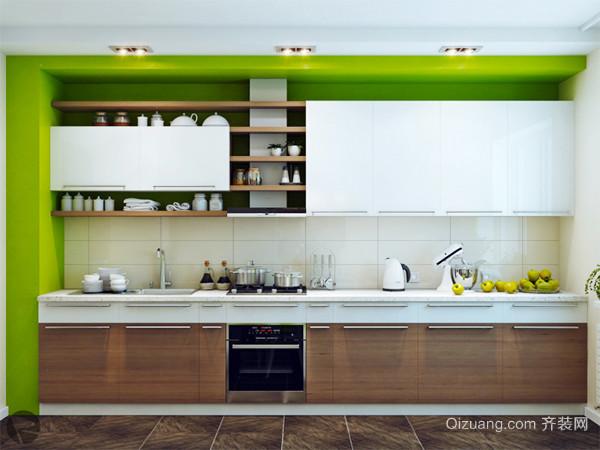现代简约风格时尚开放式厨房装修效果图大全