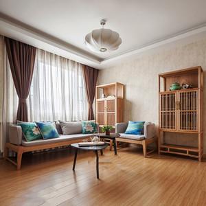 新中式风格简约淡雅客厅装修效果图