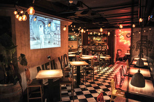 复古风格创意酒吧装修效果图