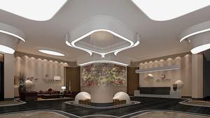 新中式风格酒店大堂吊顶装修效果图