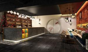中式风格古典风酒吧装修效果图赏析