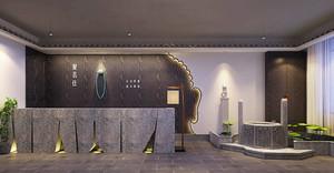新中式风格精致茶楼前台设计装修效果图