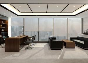 现代风格总经理办公室装修效果图