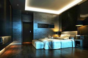 现代风格时尚酒店客房设计装修效果图