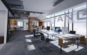 现代风格精美小型办公室装修效果图