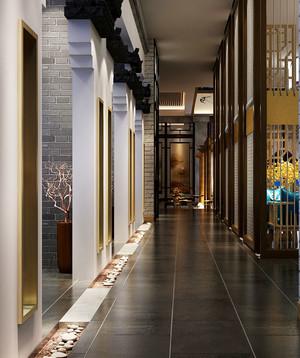 中式风格古典精致餐厅过道装修效果图