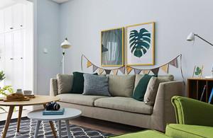 88平米北欧风格时尚三室两厅室内装修效果图