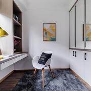 北欧风格简约白色小书房设计装修效果图