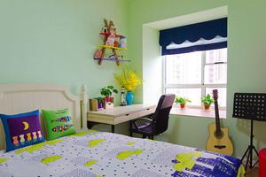 116平米地中海风格精美三室两厅室内装修效果图案例