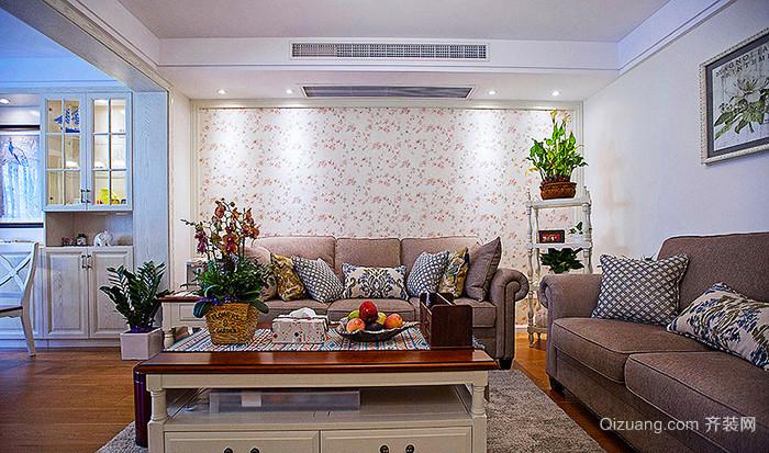 100平米简欧风格温馨清新室内装修效果图赏析