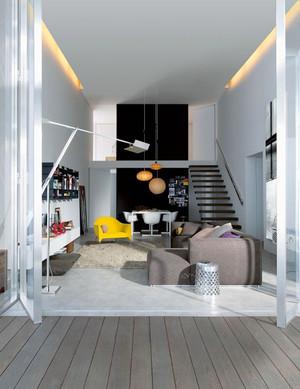 75平米简约风格公寓loft装修效果图赏析