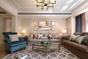 146平米简约美式风格大户型室内装修效果图案例
