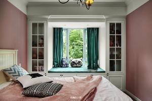 118平米美式风格时尚靓丽两室两厅室内装修效果图