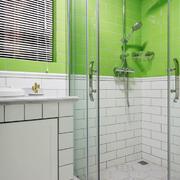清新风格简约卫生间淋浴房设计装修效果图