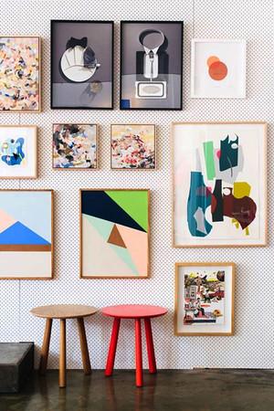 现代风格时尚照片墙装修效果图