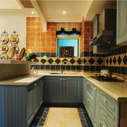 田园风格精美开放式厨房装修效果图