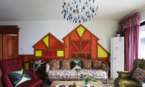 126平米田园风格活泼可爱三室两厅室内装修效果图