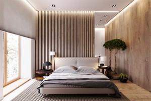 简约风格实木卧室背景墙装修效果图大全