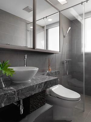80平米现代风格灰色系室内装修效果图赏析